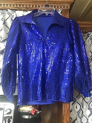 2 Blue Shiny Dance Shirts