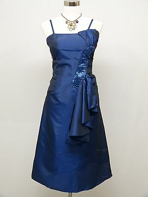 Cherlone Blue Prom Ball Evening Bridesmaid Wedding Formal Gown Dress Size 16-18