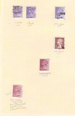 Machin collection used 5p to 9½p - 32 stamps