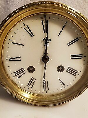 French  8 Day Bell Striking  Clock Movement For Spares Or Repairs