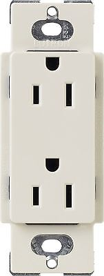 Lutron CAR-15-WH (White Gloss) Claro 15A Duplex Electrical Socket Receptacle