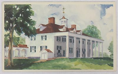 """Lot Of Eight Post Cards Of Mt Vernon """"Watercolors"""" White Bordered Unposted 1934"""