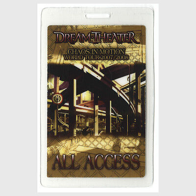 Dream Theater authentic 2007 concert Laminated Backstage Pass Chaos Motion Tour
