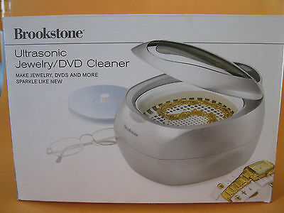 Brookstone Ultrasonic Jewelry / DVD Cleaner ** COMPLETE - IN BOX