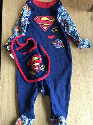 Baby Boys Superman Outfit Set 0-3 Months