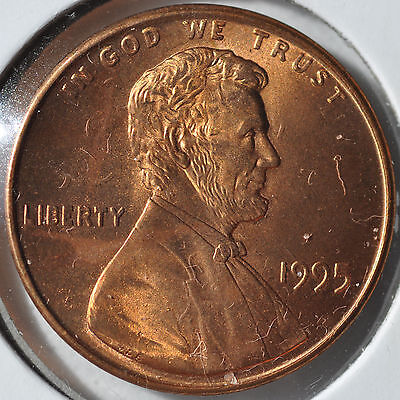 1995 1C Doubled Die Obverse RD Lincoln Cent DDO Gem Red Brilliant Uncirculated