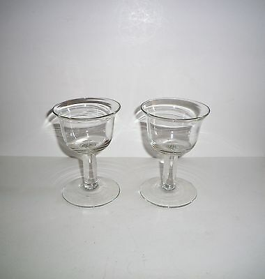 Collectible Thick Stemmed Rummer Glasses Lot Of 2