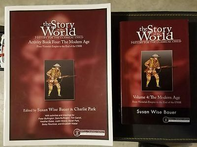 The Story Of The World Volume 4 Book and activity book- NEW
