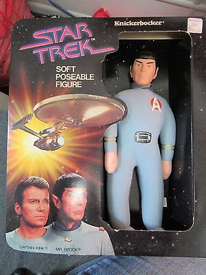 1979 Star Trek Soft Poseable Figure~Mr Spock~Knickerbocker~Nib~