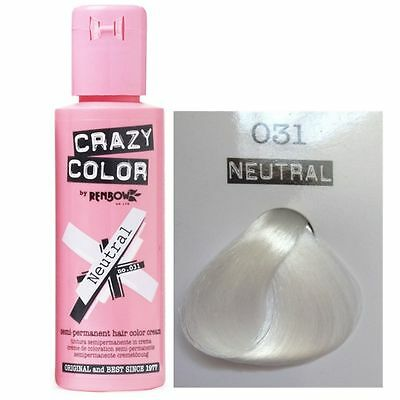 Crazy Color-031 Neutral-Colorazione Semipermanente 100ml RenBow