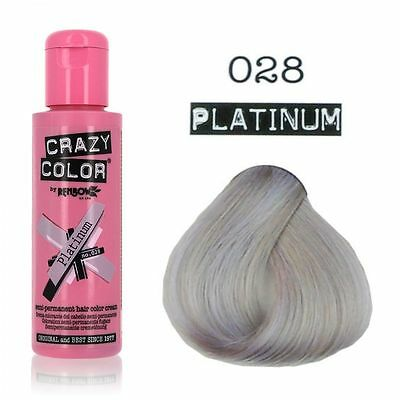 Crazy Color-028 Platinum- Colorazione Semipermanente 100ml RenBow