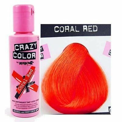 Crazy Color-57 Coral Red- Colorazione Semipermanente 100ml RenBow