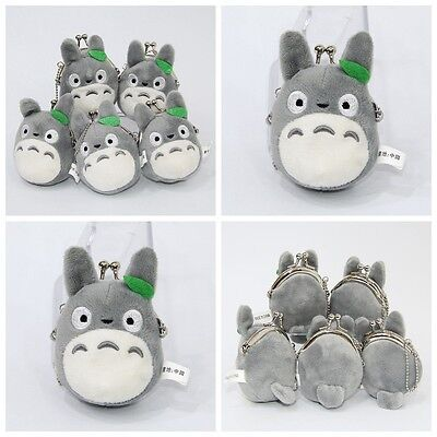 Studio Ghibli My Neighbor Totoro Left Plush Doll Emoji Cute Mini Coin Bag Holder