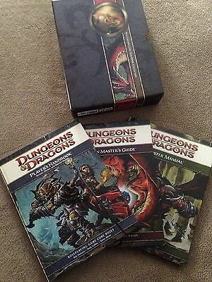 D&D/Dungeons & Dragons 4th Edition Core Rulebook Collection - Box Set
