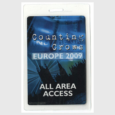Counting Crows authentic 2009 concert Laminated Backstage Pass Europe Tour rare