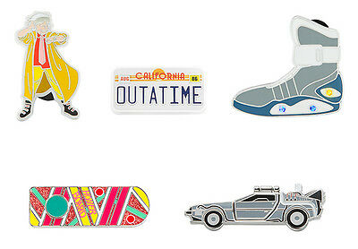 IRRI-BTF: Back to the Future Pin Set (Doc, Plate, Air Mag, hoverboard, DeLorean)