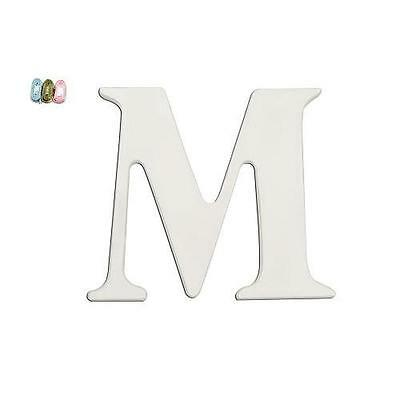 """Babies""""R""""Us 2091 M White Wooden Personalizable Letter Wall Decor 7.5 Inch BHFO"""