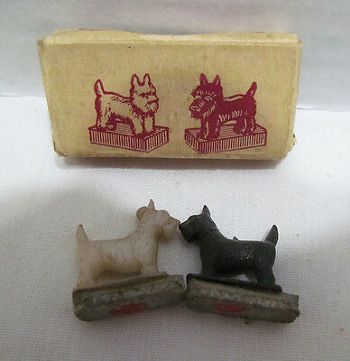 Hotsy And Totsy Merry Magnetic Pups Scotty Scottie Dogs Novelty W/ Box Vintage