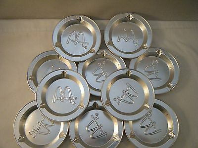 Vintage Mcdonald's Aluminum Ashtrays - Set Of 10