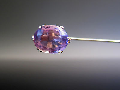 Victorian 14K Gold Amethyst Stick Pin