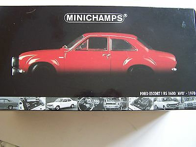 Minichamps Ford Escort I RS 1600 'AVO' 1970 1:18 Red. rare model.