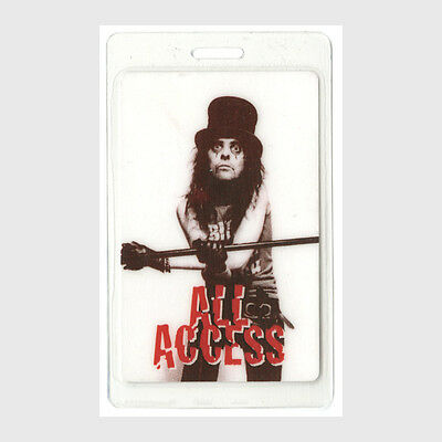 Alice Cooper authentic 1996 concert tour Laminated Backstage Pass Otto AA