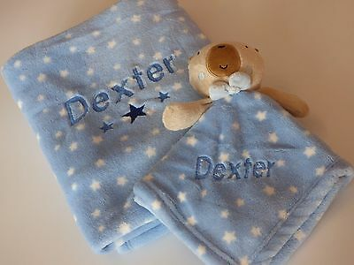 Baby boy personalised gift set - blanket and comforter set