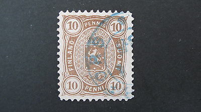 Finland 1875 10 penni brown SG 85 good/fine used cat £27