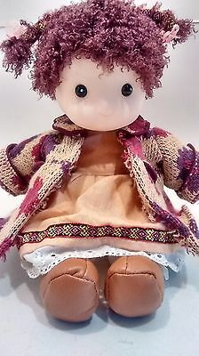 Musical Movement Doll Plays Edelweiss LE ROUET Canada Stuffed Girl Clothing