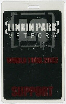 Linkin Park authentic 2003 concert Laminated Backstage Pass Meteora Tour