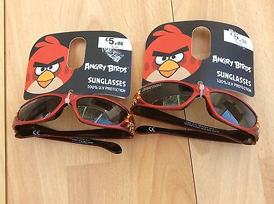 Two Pairs Childrens Sunglasses, Angry Birds Design. Approx Age 3-6Yrs.