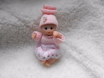 OOAK artist miniature 5cm  jointed polymer  clay baby doll by HARRY