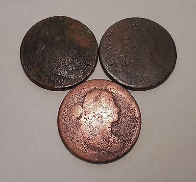 3 - 1800, 1802 & 1803 - Draped Bust - Large Cents