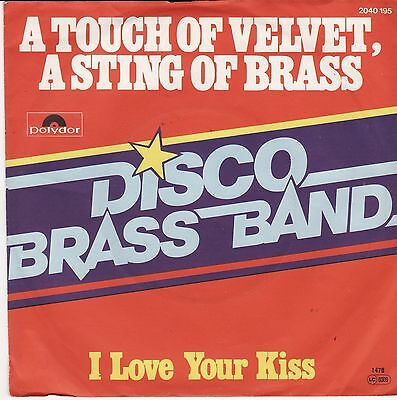 "Disco Brass Band A Touch Of Velvet, A Sting Of Brass German 7"" 45 PS Mood Mosaic"