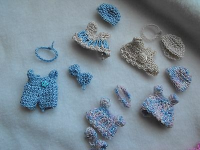 OOAK  handmade   crochet  outfits     fits  2 inch  baby doll  by HARRY