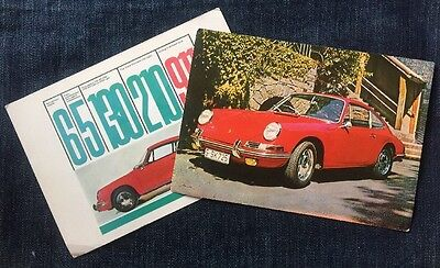 Two Large Early 911 Large Dealer Postcards