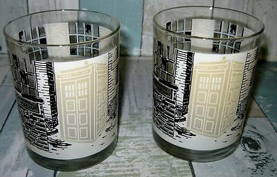 1987 Super Rare *DOCTOR WHO* Drinking Glass Set 76 Totters Lane Sci Fi Novelty