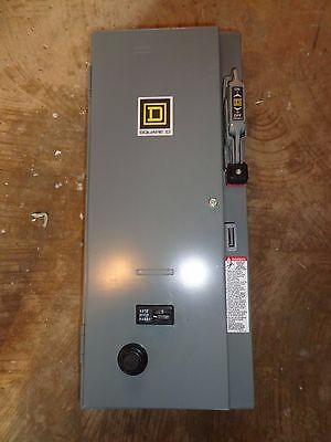 SQUARE D SIZE 0  FUSED COMBINATION STARTER 120 VAC COIL 600 VAC 5 HP  Hand Off