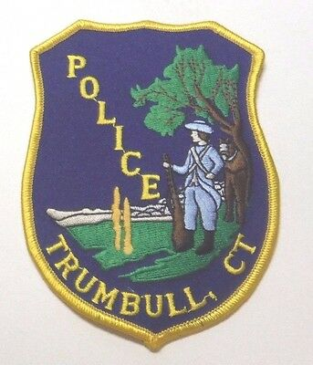 Trumbull Connecticut Police Patch Unused
