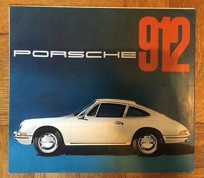 Porsche 912 German Language Showroom Advertising Sales Brochure 1965 1966
