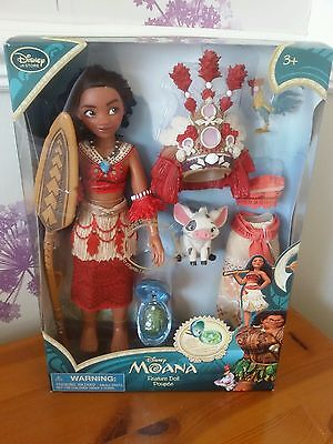 Disney Store Moana Singing Doll  extra outfit dress necklace Plus 2 Pets New