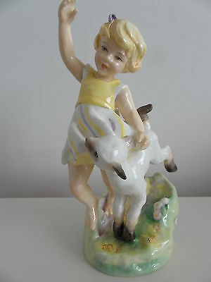 Royal Worcester Months Of The Year Figurine April 3416 Circa 1959 Rare Backstamp