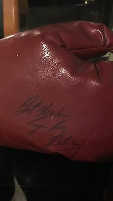 Sugar Ray Robinson Signed Boxing Glove - JSA Authenticated