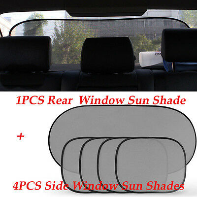 5PCS Car Sun Shade Cover blind mesh for Rear Side Window kids Max UV Protection