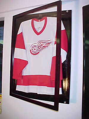Small Jersey Display Case Cherry for all sports jersey frame display case