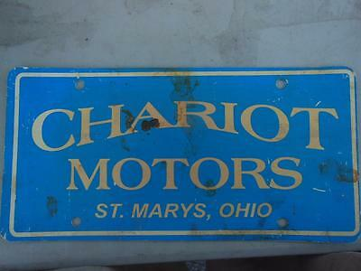 Chariot Motors St. Marys, Ohio Novelty License Plate Hot-Rod Man-Cave Tavern Bar