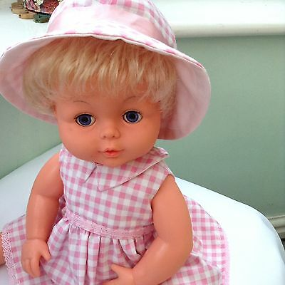Vintage Tiny Tears Doll With Two New Vintage Style Outfits