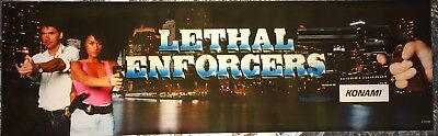 """Lethal Enforcers Arcade Marquee 27""""x8"""""""
