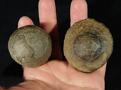 BIG Beautiful Pair of Moqui Marbles or Shaman Stones from Southern Utah 209gr e