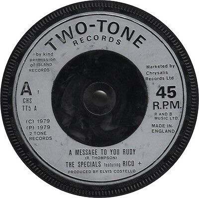 The Specials  - A Message To You Rudy / Nite Klub (2 Tone Records) With Rico